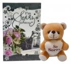 Natali Sorry-Teddy And Greeting Card Gift Combo