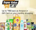 Shop worth Rs. 100/ 200/ 300 & get Rs. 250/ 500/ 750 Cashback