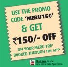 Get Rs150 off & 5% Cashback with Meru Wallet!