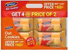 Mcvities Oat Cookies Combi 2+2, 300gm, (Pack of 4)