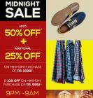 Up to 50%+Extra 25% Off in the Midnight Sale