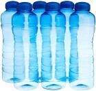 Princeware Pet Fridge Victoria Plastic Bottle, Set of 6, 975ml, Blue