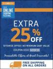 Extra 25% off on Sitewide