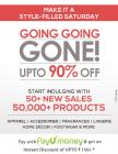 Going Going Gone Upto 90% off