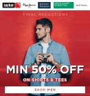 Min 50% Off On Shirts & Tee + Extra Rs 100 Off