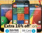 10 % Instant Discount on Select Motorola Mobiles