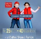Flat 25% Off + 40% Cashback on all Clothes, Shoes & Fashion