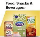 Food, Snacks & Beverages with 25% extra Cashback