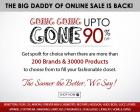 Going Going Gone: Upto 90% off Clothing, footwear,accessories, home etc