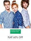 UCB Clothing Flat 60% Off + Extra 10% Cashback With SBI Card