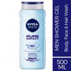Nivea Pure Impact Shower Gel For Men, 500ml