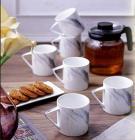 Sanjeev Kapoor Slate Ceramic Coffee Mug Set, 6-Pieces, Multicolour (SK-cm-Imperial-Slate)