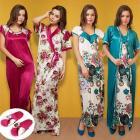 5 Pcs Set Of Premium Satin Nightwear