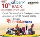 Get 10% cash back On all Citibank Credit Cards Purchases