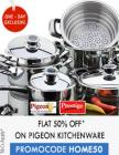 Upto 35% off + Extra 50% cashback on Prestige & Pigeon