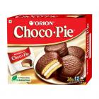 ORION Choco Pie - Chocolate Coated Soft Biscuit, 4 X 336 g