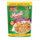 Kwality Crunchy Muesli Mixed Fruit, Zero Cholesterol and Trans Fat- No Added Refined Sugar, No Added Artificial Flavor and Color, Super Saver Pack (700g, Pack of 1)