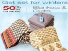 50% Off or more on Blankets & quilts