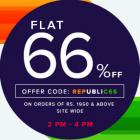 FLAT 66% OFF ON ORDERS OF RS. 1950 & ABOVE