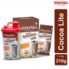 Soulfull Millet Smoothix- Cocoa Lite Protein Drink, 7 Sachets with Free Shaker
