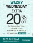 Extra 20% off on All Products with no minimum purchase