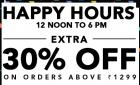Get extra 30% off on orders above Rs.1299