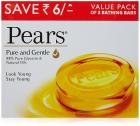 Pears Pure and Gentle Bathing Bar, 125g (Pack of 3)