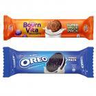 Cadbury Biscuits Family Pack Combo, 1200 gm (5X120g Oreo Vanilla biscuits , 5X120g Bournvita biscuits)