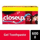 Closeup Ever Fresh Red Hot Gel Toothpaste - 150 g (Pack of 4)