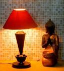 Tucasa Black & Orange Coloured Table Lamp