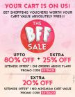 Upto 80% off + Extra 25% off on all products