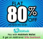 Flat 80% Off + 15% cashback