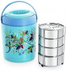 Cello Ranger Insulated 4 Container Lunch Carrier, Blue
