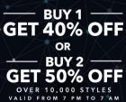 Buy 1 get 40% off   Buy 2 get 50% off