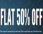 FLAT 50% OFF On Clothing