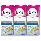 Veet Silk and Fresh Hair Removal Cream, Sensitive Skin - 50g Pack of 3