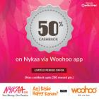 50% cashback on Nykaa via Woohoo app