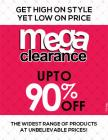 Upto 90 % Off Mega Clearence Sale