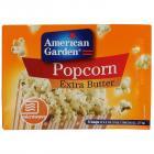 American Garden Microwave Popcorn, Extra Butter, 273g