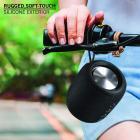 Detel Buzz Portable Wireless Speaker (Black, Aux,Micro SD Card,USB Input,Speakerphone,Wireless Stereo Pairing,Rugged Exterior)