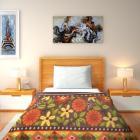 IWS Printed Single Blanket Multicolor  (1 Single Bed Fleece Blanket)