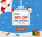 Flat 50% Off on Hotels ( Upto Rs. 2500)