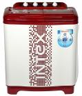 Intex WMS80TG Semi-automatic Top-loading Washing Machine (8 Kg, White and Maroon)