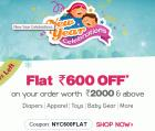 Flat 600 Off on order worth Rs. 2000 & above