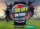 CricBites campaign-Rs 100 off on all orders