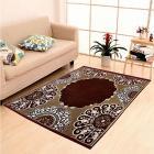"""IWS Ethnic Velvet Touch Design Modern Chenille Carpet - 55""""x84"""", Brown"""