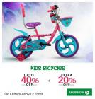 Kids Bicycles upto 40% off + Extra 20% Off