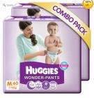 Huggies Wonder Pants M-60 (7 To 12 Kg) Pack Of 2
