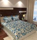 Home Candy Floral Cotton Double Bedsheet with 2 Pillow Covers - Blue