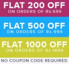 Rs. 1000 off on 1899/ 500 off on 999 & Rs. 200 off on Rs. 600